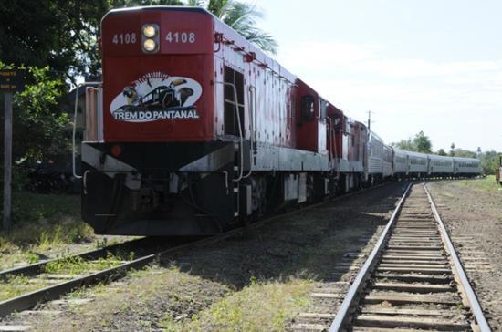 Evento de lançamento do Trem do Pantanal