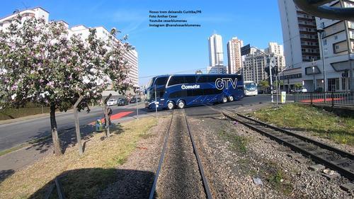 Trem da ABPF/Sul deixando Curitiba/PR